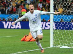 Wayne Rooney celebrates one of his 53 England goals (Nick Potts/PA).