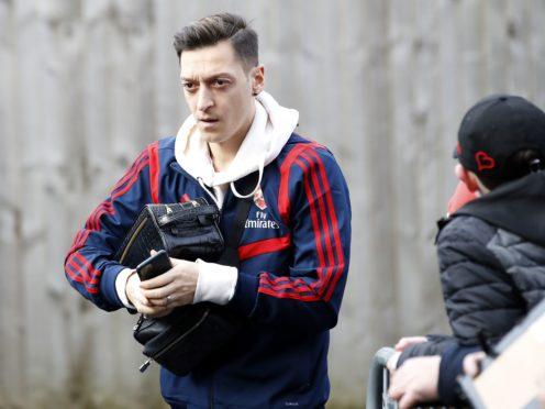Mesut Ozil has left Arsenal (Martin Rickett/PA)