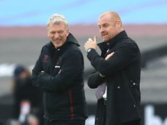 David Moyes, left, was the happier of the two managers as West Ham saw off Burnley (Adam Davy/PA)