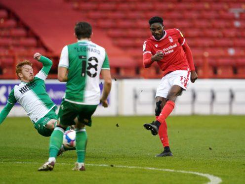 Sammy Ameobi scores the opening goal (Zac Goodwin/PA)