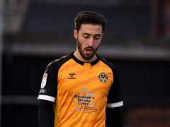 Josh Sheehan was sent off in Newport's draw (Simon Galloway/PA)