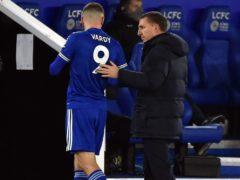 Jamie Vardy came off against Southampton as he battles a hip problem. (Rui Vieira/PA)