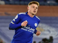 Leicester's Harvey Barnes scored his side's second goal (Rui Vieira, PA)