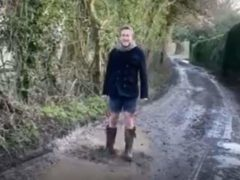 Ben Fogle is among celebrities from the world of entertainment, sport and business lining up to jump in a puddle in a bid to raise £1 million to help beat cancer (Jumping in Puddles for Cancer/PA)