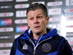 Shrewsbury manager Steve Cotterill has been hospitalised with coronavirus (Zac Goodwin/PA)