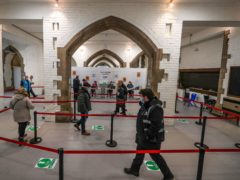 The crypt of Blackburn Cathedral, as 10 further mass vaccination centres opened in England (Peter Byrne/PA)