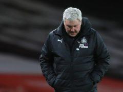 Newcastle head coach Steve Bruce is under increasing pressure after a nine-game winless run (Adam Davy/PA)