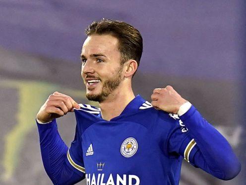 Leicester City's James Maddison has scored eight goals this season (Tim Keeton/PA)