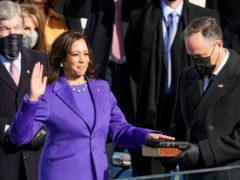Kamala Harris is sworn in as vice president (AP/Andrew Harnik)