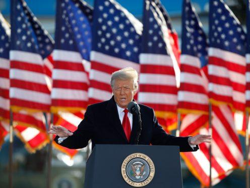 President Donald Trump was impeached twice (Luis M Alvarez/AP)
