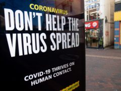A 'Don't help the virus spread' government coronavirus sign during England's third national lockdown (Andrew Matthews/PA)