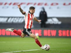Sheffield United's Billy Sharp put his side 2-0 up (Tim Goode/PA).