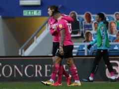 Colin Kazim-Richards celebrates scoring the winner for Derby (Bradley Collyer/PA).