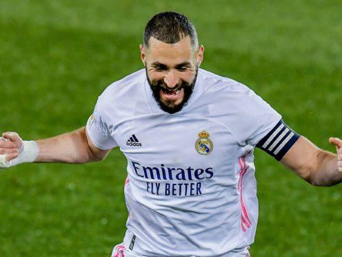Karim Benzema scored a brace as Real Madrid returned to winning ways (Alvaro Barrientos/AP)