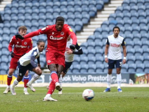 Reading's Lucas Joao misses a late penalty in the goalless draw against Preton at Deepdale.
