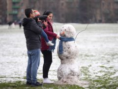 Cold bright conditions won't last, Met Office says (Yui Mok/PA)