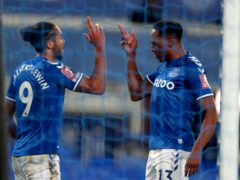 Dominic Calvert-Lewin (left) and Yerry Mina were on target for Everton (Peter Byrne/PA)
