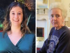 Amy Appleton, 32, (left) and Sandy Seagrave, 76, who were both killed outside a semi-detached house in a quiet street in Crawley Down on 22 December 2019. Daniel Appleton, 38, is set to be sentenced at Lewes Crown Court on Monday after being found guilty of two charges of murder (Sussex Police/PA)