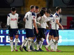 Tottenham needed three late goals to see off Wycombe (John Walton/PA)