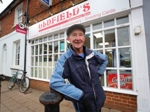 George Bailey, of Headcorn near Maidstone in Kent, one of the oldest paperboys in the country (Gareth Fuller/PA)