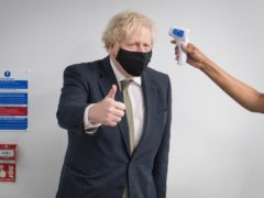 Prime Minister Boris Johnson thanked the thousands of study volunteers (Stefan Rousseau/PA)