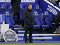 Brendan Rodgers saw his side lose 3-1 to Leeds (Tim Keeton/PA).