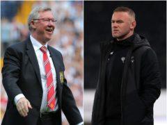 Sir Alex Ferguson and Wayne Rooney (Nick Potts/Mike Egerton/PA).