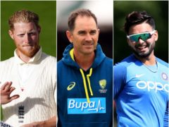 Justin Langer, centre, likened Rishabh Pant's innings to Ben Stokes' at Leeds (Jon Super/Mike Egerton/ Steven Paston/NMC Pool/PA)