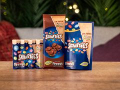 Nestle will see its Smarties brand switch from plastic to recyclable paper packaging (Nestle/PA)