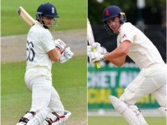 Joe Root, left, and Dan Lawrence starred for England (Dan Mullan/Jason O'Brien/PA)