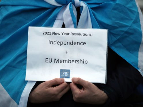 An independent Scotland could be 'top of the list' to join the European Union, one expert said. (Andrew Milligan/PA)