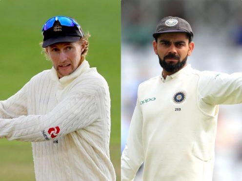 Joe Root's side face four Tests against Virat Kohli's India (Mike Hewitt/Mike Egerton/PA)
