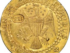 A rare gold coin made by a noted craftsman in New York in 1787 (Heritage Auctions via AP)