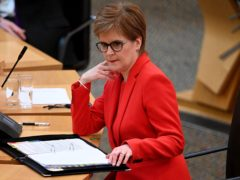 First Minister Nicola Sturgeon has been accused of misleading Scots on a key Covid-19 vaccination target. (Jeff J Mitchell/PA)