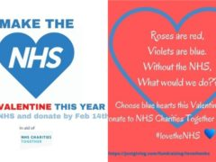 The Valentines For The NHS campaign argues health workers know the meaning of true love (Claire Ruddock/Valentines for the NHS/PA)