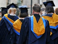 The rate of students dropping out from UK universities has fallen (Chris Radburn/PA)