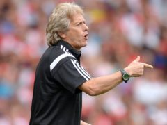 Jorge Jesus has seen his Benfica side struggle for form of late (Andrew Matthews/PA)