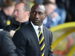 Burton manager Jimmy Floyd Hasselbaink insists his side have not achieved anything yet (Barrington Coombs/PA)