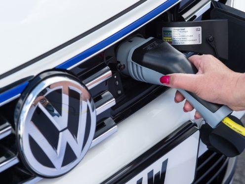 Volkswagen sold more electric vehicles (Volkswagen/PA)