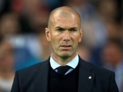 Real Madrid manager Zinedine Zidane insists there is still a long way to go in the LaLiga title race (Nick Potts/PA)