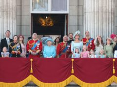 The royal family on the Buckingham Palace balcony (Yui Mok/PA)