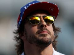 Fernando Alonso suffered a fractured jaw in a cycling accident (David Davies/PA)
