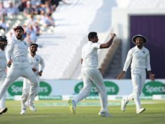 Ravi Ashwin celebrated his 400th Test wicket (Nick Potts/PA)