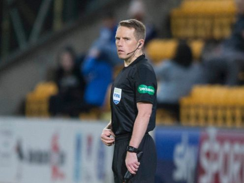 Graeme Stewart was an assistant referee for Hibs' clash with Hamilton (Jeff Holmes/PA)