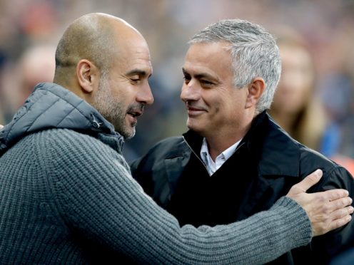 Pep Guardiola (left) and Jose Mourinho (right) say they now have a much better relationship (Martin Rickett/PA)