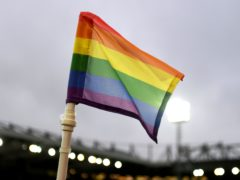 The Rainbow flag in support of LGBT people (Joe Giddens/PA)