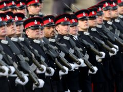 Nearly 50 positive cases haven been recorded among the trainees and staff at the military academy in Berkshire (Jonathan Brady/PA).