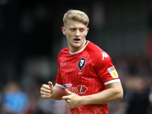 On-loan Salford striker Luke Armstrong fired Hartlepool into a first-half lead (Martin Rickett/PA)
