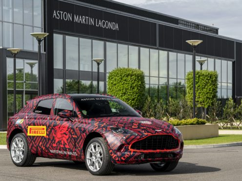 Aston Martin saw losses widen but remains hopeful with the launch of its DBX SUV (Aston Martin/PA)