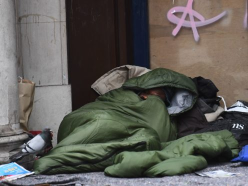 There were almost 1,000 homeless deaths in the UK in 2020, according to a social justice group (Victoria Jones/PA)
